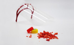 Browse partner plastic preneur precious plastic recycled injection moulded face shield coronavirus dezeen 2364 hero a