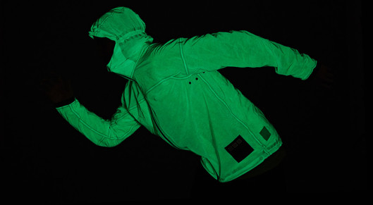 Partner show solar charged jacket glows like kryptonite 08