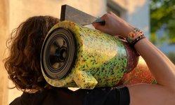 Browse partner ecopixel ghetto blaster bluetooth stereo recycled plastics designboom 1200