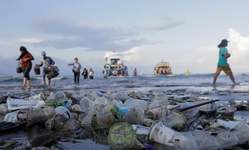 Browse partner 187 countries trash pollutes the beach in bali indonesia. photograph johannes christo reuters